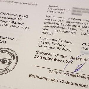 """Kenntnisnachweisprüfung (§ 21d LuftVO) (""""Drohnenführerschein"""")"""